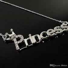 wholesale new style fashion letter princess necklaces beautiful
