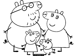 Peppa Pig Coloring Pages Getcoloringpages Com Pig Coloring Pages