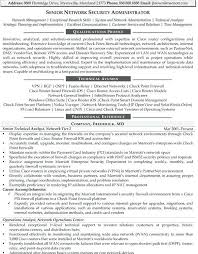 Cisco Network Engineer Resume Sample Network Security Administrator Resume 5 Top Job Search Materials
