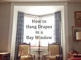 How To Hang Curtains On A Bay Window Hartwood Roses Hey Connie How Did You Hang The Drapes In Your