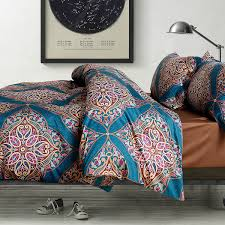 amazon com damask medallion luxury duvet quilt cover boho paisley