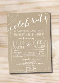 diy rehearsal dinner invitations celebrate poster engagement party invitation couples shower