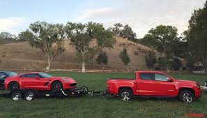 corvette colorado towing a z06 with the 2016 chevy colorado duramax diesel