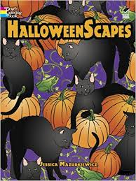 halloweenscapes dover holiday coloring book jessica