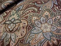 Paisley Home Decor Fabric by Vintage Paisley Floral Decorator Fabric Chocolate Brown Muted