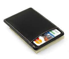 leather magnetic money clip with credit card holder hansonellis