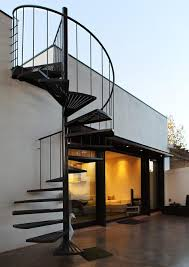 outside stairs design spiral staircase to the roof pc house by xva staircases