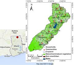 africa map study fig 1 study area map of vea catchment in the districts of bongo