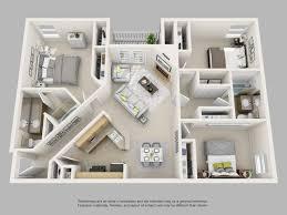 3 bedroom unit floor plans 25 more 3 bedroom 3d floor plans house plan apartment bed momchuri