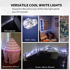 cool white lights 2 pack string lights battery operated 66 led 16 4ft silver wire 8