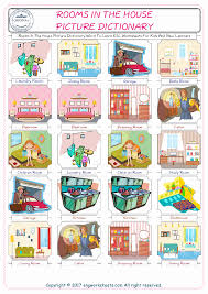 rooms in the house rooms in the house free esl efl worksheets made by teachers for