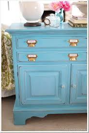 before and after furniture makeover in turquoise in my own style