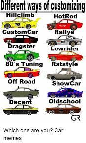 Meme Custom - different ways of customizing hillclimb hot rod 16 rallye custom car