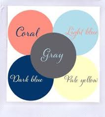 color scheme gray dark blue light blue coral u0026 pale yellow