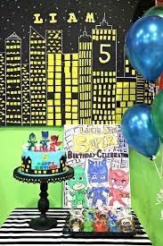 liam u0027s 5th birthday celebration planned pj masks theme party