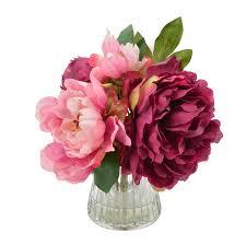 peonies flower bouquet of peonies floral arrangement in vase reviews joss