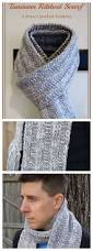 easy tunisian crochet ribbed scarf pattern easy patterns