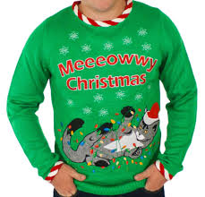 men u0027s lighted tangled cat sweater ugly christmas sweater with