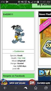 my long dream on neopets had finally come i had to buy it but