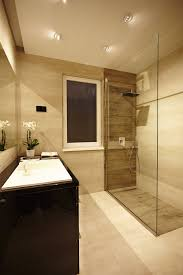 Modern Apartment Bathroom - apartments elegant modern bathroom with glass shower and black