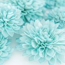 teal flowers 10 aquamarine wooden flowers wedding decorations wedding flowers