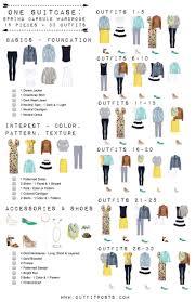 fashion infographics make your life easy capsule wardrobe