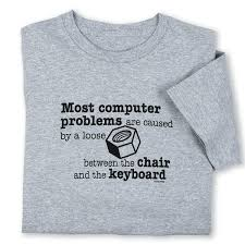 laugh at computer problems with loose nut funny computer t shirt