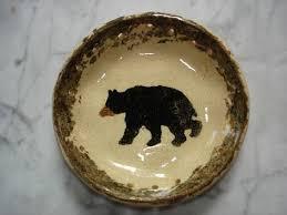 pottery pine needle basket base black with by golpottery