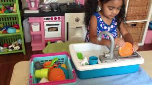 Kitchen Sink Play Play Kitchen Sink With A Running Water Faucet