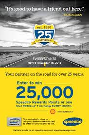 speedco 25th anniversary sweepstakes st u0026p marketing