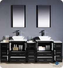 modern sinks and vanities 84 fresca torino fvn62 72es vsl modern double sink bathroom