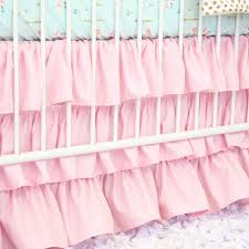 Pink Ruffle Curtains Panels by Pink U0026 Aqua Floral Sparkle Baby Bedding Caden Lane