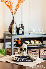 easy to make halloween party decorations easy halloween party decoration skull centerpiece a home to