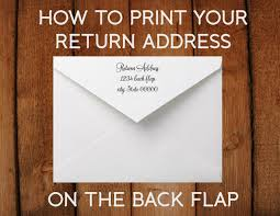 wedding invitations return address how to print a return address on the back flap of your invitations