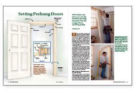 How To Hang Prehung Interior Doors Setting Prehung Doors Homebuilding