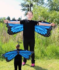 butterfly costume delight ones with blue morpho butterfly wings costume