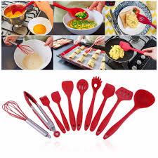 ustensile de cuisine en silicone 10 pcs ensemble haute température résistant ustensiles de cuisine en