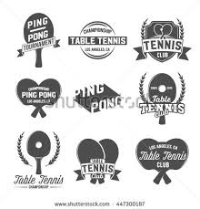 los angeles table tennis club set table tennis ping pong labels stock vector 447300187 shutterstock