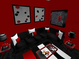 black and red living room decor home design interior