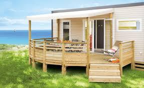 auvent en bois pour terrasse terrasse pour mobil home couverte u0026 semi couverte panorama lattes
