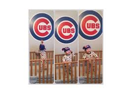 Cubs Flag Chicago Cubs Logo Wall Decal Shop Fathead For Chicago Cubs Decor