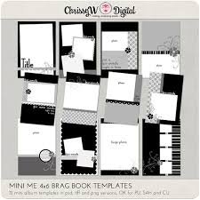 4x6 brag book mini me 4x6 brag book mini album digital scrapbooking templates