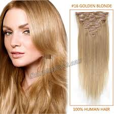 8 Inch Human Hair Extensions by Wigs Gold Hair 22 Inch 16 Golden Blonde Clip In Human Hair