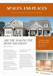 orange and white real estate newsletter templates by canva