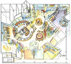 shopping center floor plan playground floor plan and design for a shopping center in astana