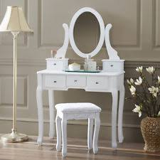 Jewelry Vanity Table Makeup Vanity Dressing Table Mirror Drawers Bedroom Decor Jewelry