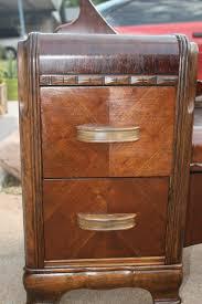Antique Dresser Vanity Sold Vintage Art Deco Western Country Waterfall Vanity Low Boy