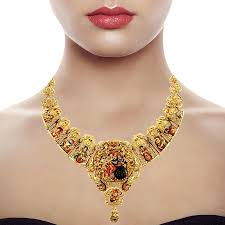 bridal necklace images 22 kt yellow gold dhasavartharam necklace nl866001 by emerald jpg