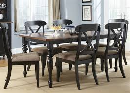 5 Chair Dining Set Court X Back Chairs 5 Dining Set In Black And Cherry Finish