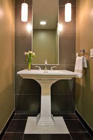 stylist design ideas bathroom pedestal sink and shower backsplash